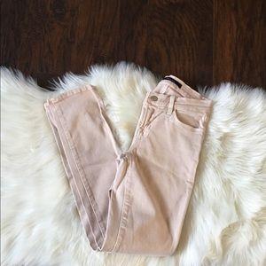 j brand skinny jeans blush high rise size 24